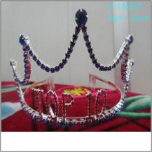 El desfile grande de la perla de la manera al por mayor corona las tiaras de papel personalizadas altas llenas