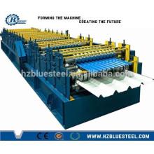 Azulejos y azulejos corrugados Double Deck rodillo anterior / paso azulejos y Trapezoid Roof panel formando máquina