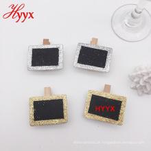 HYYX Made In China decoração Mini peg de lousa de madeira