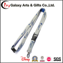 Plastic Material Detachable Buckle Custom Polyester Woven Lanyards