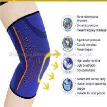 Kompression Nylon Elastisk Knä Support Brace Sleeve