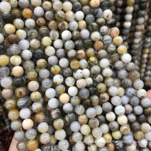 Natural 4mm smooth natural agate stone beads matte gemstone beads for bracelet