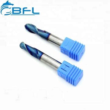 Carbide Ball Nose End Mill Ball Nose Blue Coated High Hardness