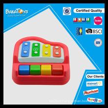 Brinquedos musicais educativos com 4 brinquedos sonoros de piano para crianças