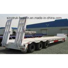 3 Axles 80t Cargo Truck Lowbed Semi Trailer