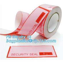 Security Tamper Evident Warranty Void Tape / Security Sticker labels, jumbo roll anti-counterfeiting adhesive tape, Tape with Pe