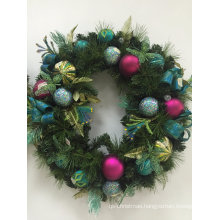 Christmas Wreath with Silk and Flora Deco (OEM welcome)