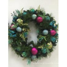 Grinalda de Natal com Silk e Flora Deco (OEM welcome)