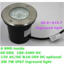 green energy energy saving whosale 3w 7w led inground light ip67 water proof three years warranty