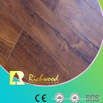Grabado en relieve (EIR) 15mm Wax Coating HDF Laminated Flooring