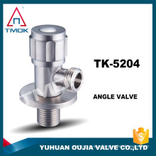 "1/2*3/4"" stainless steel angle valve male NPT thread control valve return flow water full port lead free chromed fittings"