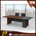 Black and brown simple strong 2.4m meeting conference table