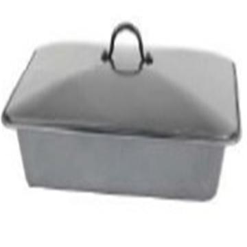 Pan de grilloir acier carbone anti-adhésif avec couvercle