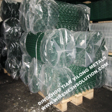 Green PVC Coated Chain Link Fence Frabric