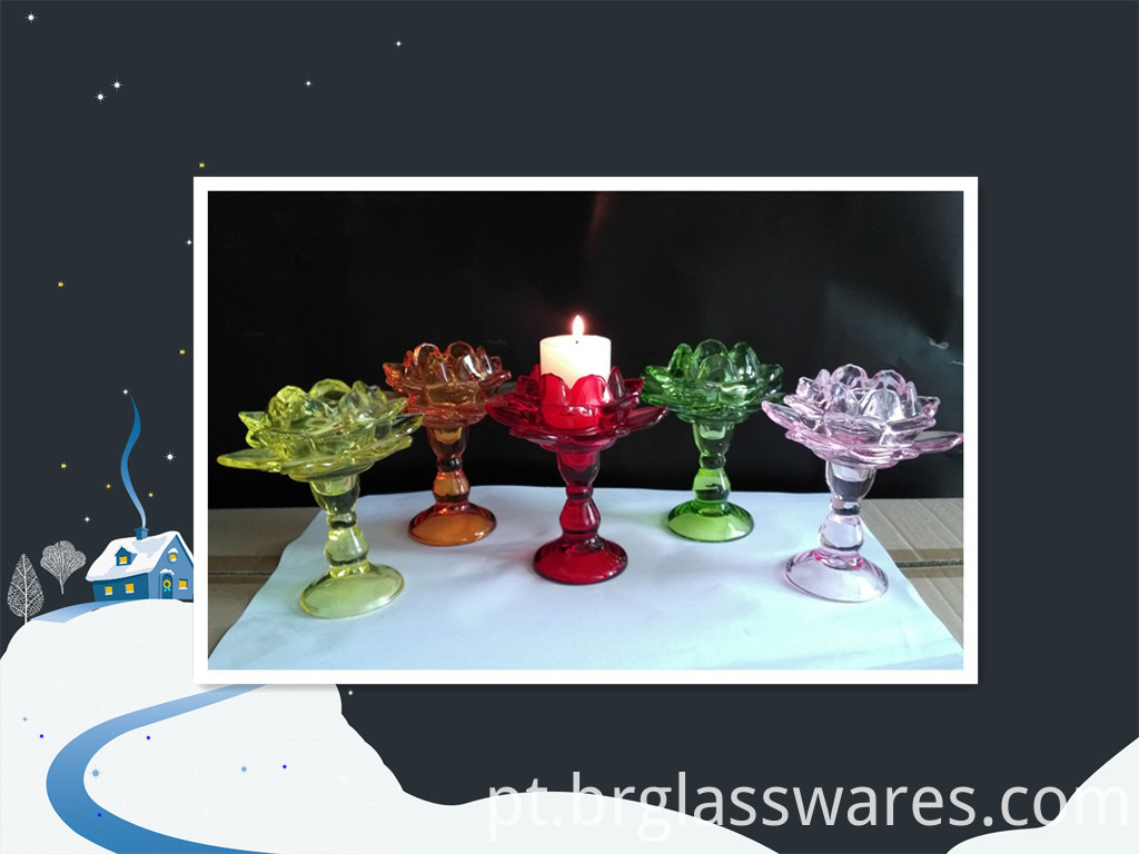 glass candle holder 11