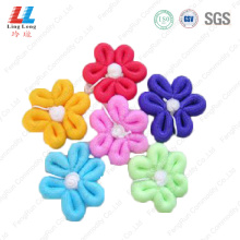 flower+body+scrub+exfoliating+shower+soap+bath+sponge