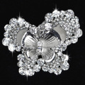 High Quality Decorative Crystal Brooch Pin in butterfly shape Garment Accessories wholesale bridal jewelry