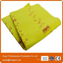 Tissu non-tissé visqueux de cuisine de tissu de 100%, tissu de nettoyage non-tissé viscose perforé par aiguille