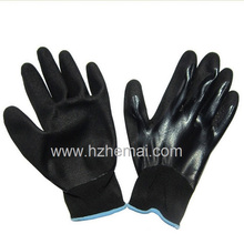 Fully Nitrile Dipped Gloves with Sandy Nitrile Palm Safety Work Glove