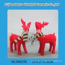 2016 artes de cerámica vendedora caliente de la Navidad, decoración de cerámica de la Navidad del reno