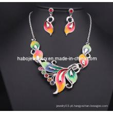 Esmalte de borboleta glória com conjunto de jóias com diamantes (xjw13206)