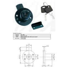 Black Drawer Lock, Rond Drawer Lock, Drawer Lock, Al-610b-40