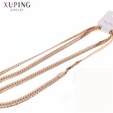 Moda feminina jóias 18k liga de cobre colar de corrente