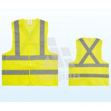 Jy-7008 Chaleco de seguridad reflectante de poliéster amarillo
