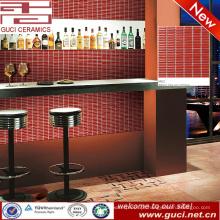 China fornecimento vermelho Longo tipo Bar parede telha cerâmica cozinha mosaicos