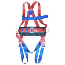 FULL BODY WORKPLACE SAFETY HARNESS WITH BELT BUCKLES AND LANYARD
