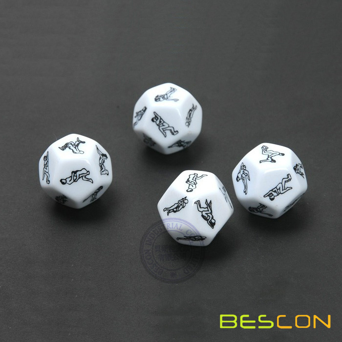 Polyhedral 12 Sided Sex Dice
