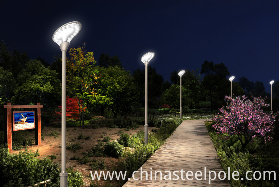 FU-TAO High Quality Q235 Q345 Hot Dip Galvanized solar post lamp