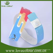 Festival-Veranstaltung billige benutzerdefinierte einmalige Verwendung tyvek Armbänder