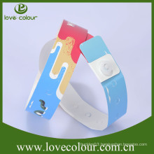 Festival event cheap custom one time use tyvek wristbands