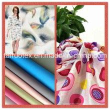 Pongé de polyester avec la conception d'impression pour le vêtement