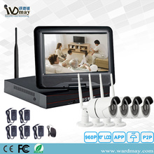 1.0 / 2.0MP Keamanan Rumah Wireless Wifi NVR Kits