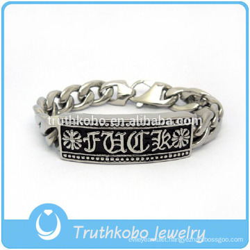 TKB-JB0147 Christ punk silver with crystal paved artificial diamond and casting fleur de lis 316L stainless steel bracelets