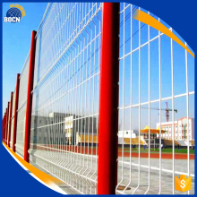 red pvc coated welded wire mesh fence