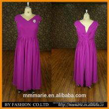 New Elegant fat Womens Party Sleeveless Purple Formal Brazilian Evening Dress Bridesmaid beaded floor length dress