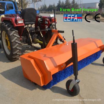 Maquinaria agrícola 45 HP Tractor Uso Cepillos Barredora de carreteras