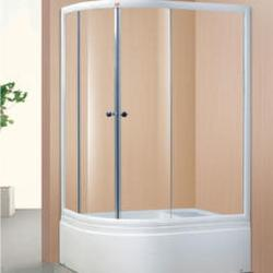 Oval Simple Champagne Aluminium Shower Room