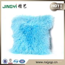 Al por mayor Tibetan Mongolian Lamb Fur Cushion Cover