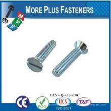 Fabriqué en Taiwan Slot Encastrement Flat Countersunk Head Machine Screw