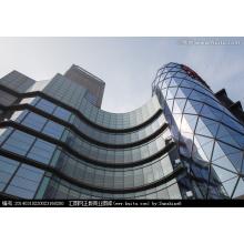 Aluminium-Außenglas-Vorhangfassade für Gebäude (bei Bedarf zu installieren)