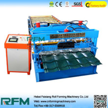 Roof wall glazed tile roll forming machine
