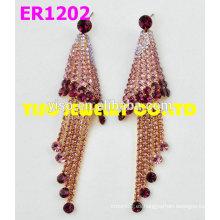 Pendientes de colores de joyería rhinestone