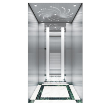 Luxury home lifts prices residential elevator Mirror etching stainess steel home lifts