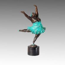 Estatua de Bailarina Squabby Señora Escultura de Bronce TPE-357