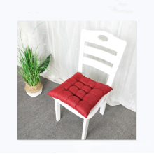 Hot sale solid color linen chair cushion home car office seat cushion