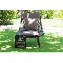 Cadeira de jantar de poliuretão de design moderno para móveis de exterior